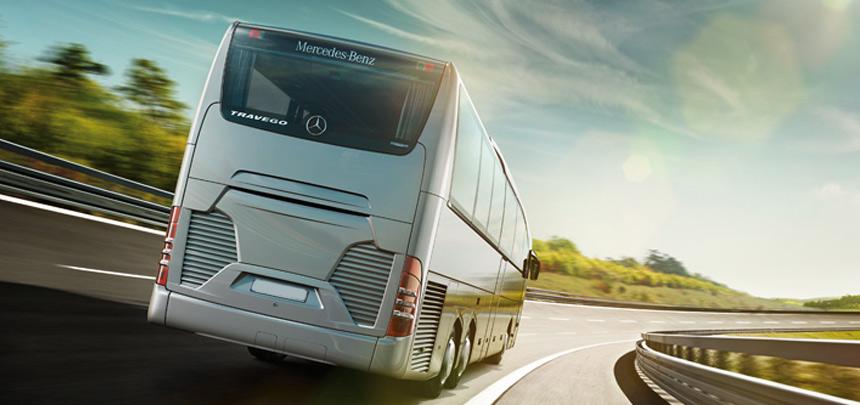 behind luxury coach